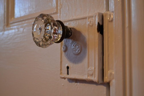 glass doorknob